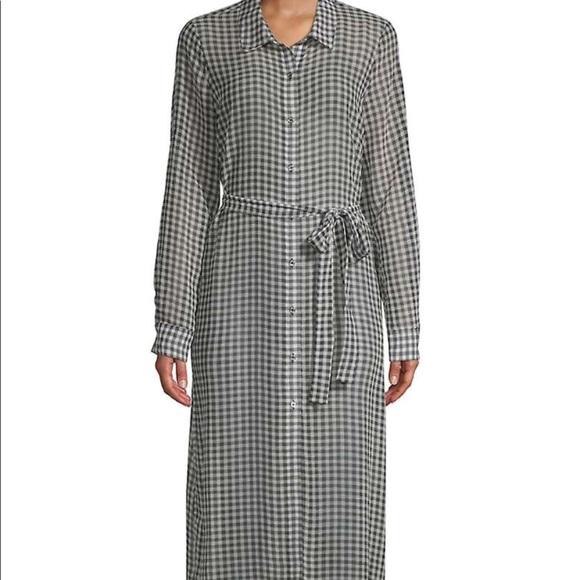 3d749e506d15d NEW Calvin Klein Sheer Gingham Shirt Dress - NWT